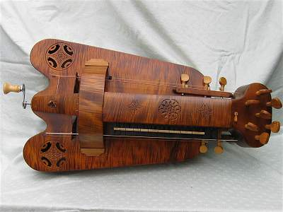 Plan view of custom Hurdy Gurdy by Chris Allen and Sabina Kormylo