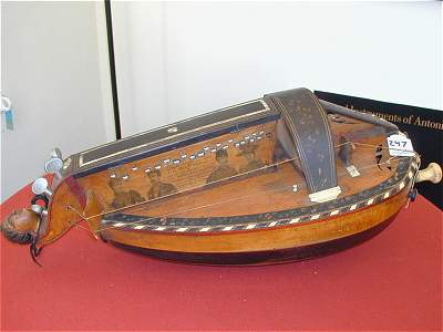 Overall view of original 1892 Nigout Hurdy Gurdy from Chris Allen and Sabina Kormylo collection
