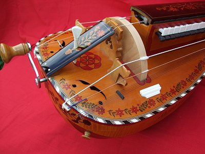 Highly decorated copy of original 1892 Nigout Hurdy Gurdy from Chris Allen and Sabina Kormylo