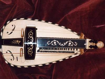 Pajot Fils copy with alterative decoration Hurdy Gurdy by Chris Allen and Sabina Kormylo