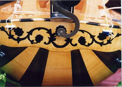 Tail detail of Pimpard Hurdy Gurdy by Chris Allen and Sabina Kormylo
